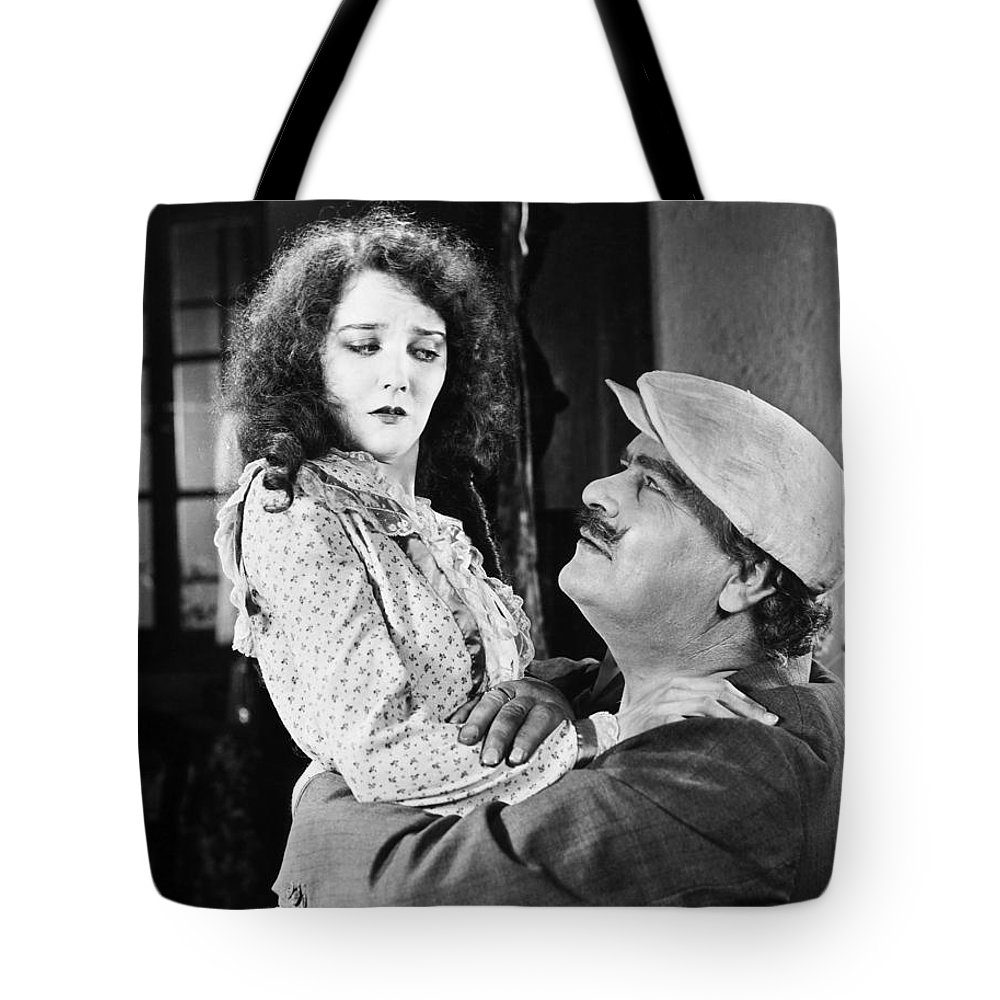 -one Man One Woman- Tote Bag featuring the photograph Silent Still: Man & Woman by Granger
