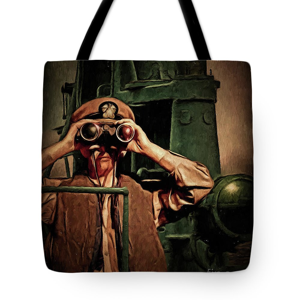 Silent Service Tote Bag featuring the digital art Silent Warriors Of World War 2 Oil by Tommy Anderson