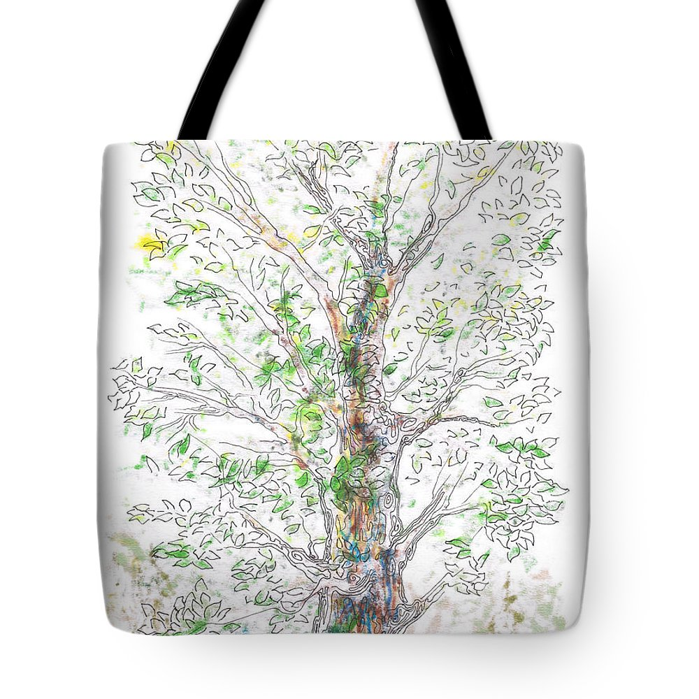 Tree Tote Bag featuring the painting Silent Witness by Regina Valluzzi