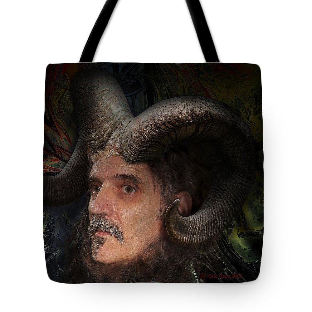 Surrealism Tote Bag featuring the digital art Silenus by Otto Rapp