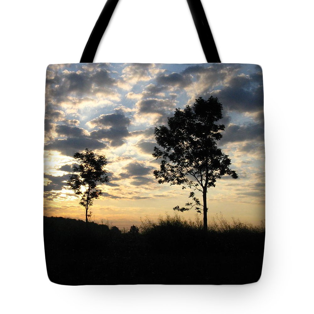 Landscape Tote Bag featuring the photograph Silhouette by Rhonda Barrett