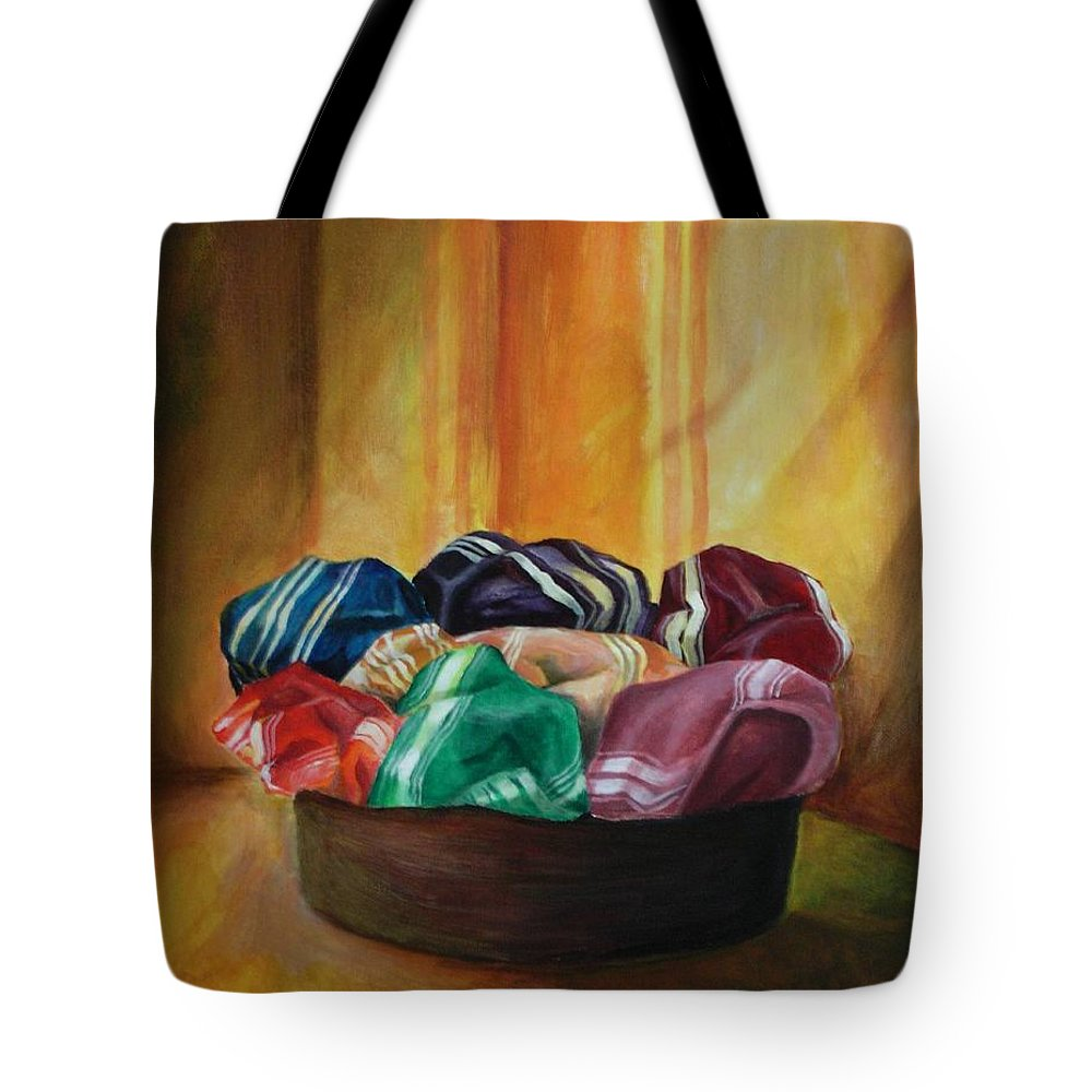 Silk Tote Bag featuring the painting Silk by Jun Jamosmos