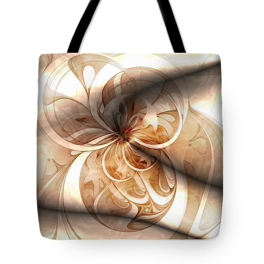 Digital Art Tote Bag featuring the digital art Silk by Amanda Moore