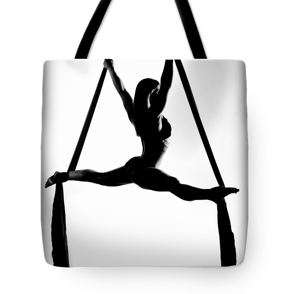Silks Tote Bag featuring the photograph Silk Splits 1 by Monte Arnold