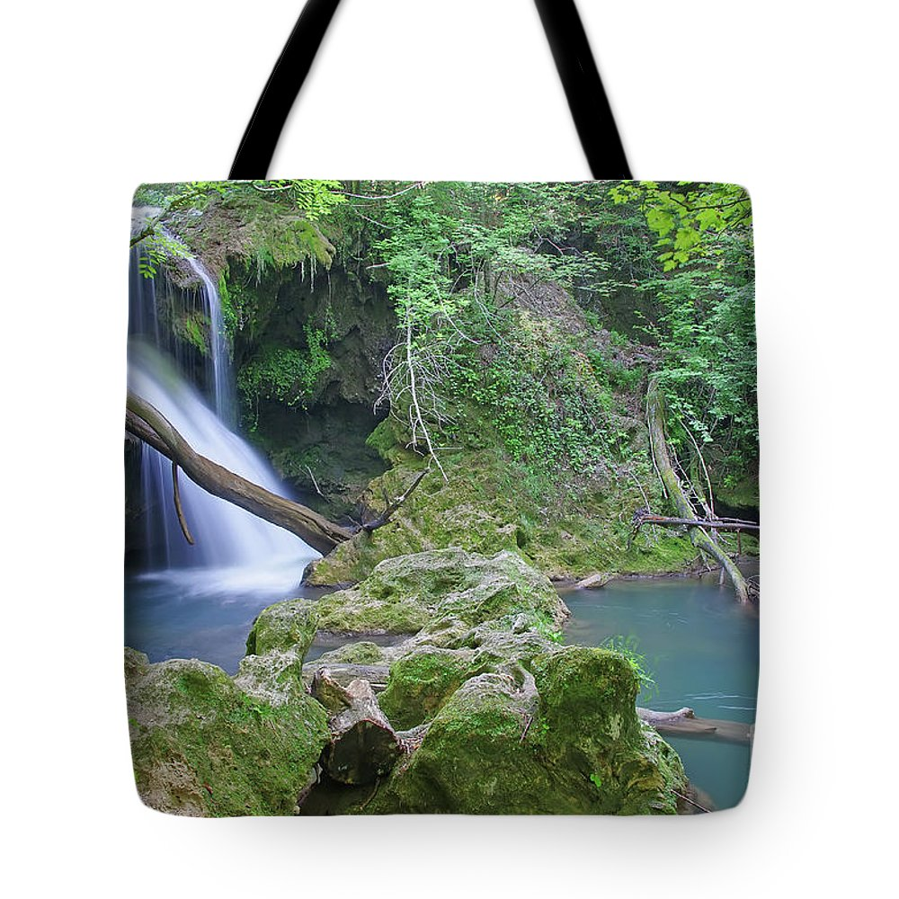 Waterfall Tote Bag featuring the photograph Silky Waterfall by Cosmin-Constantin Sava