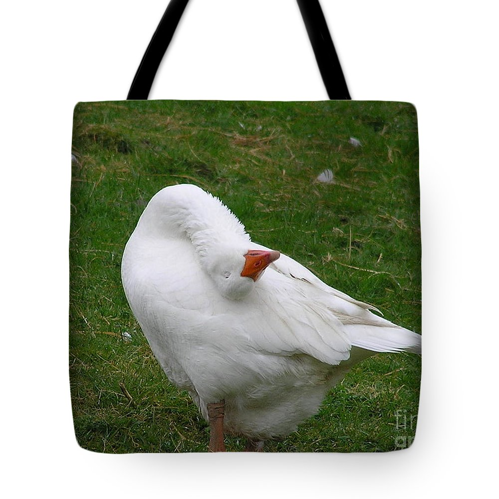Goose Tote Bag featuring the photograph Silly Goose by Louise Magno