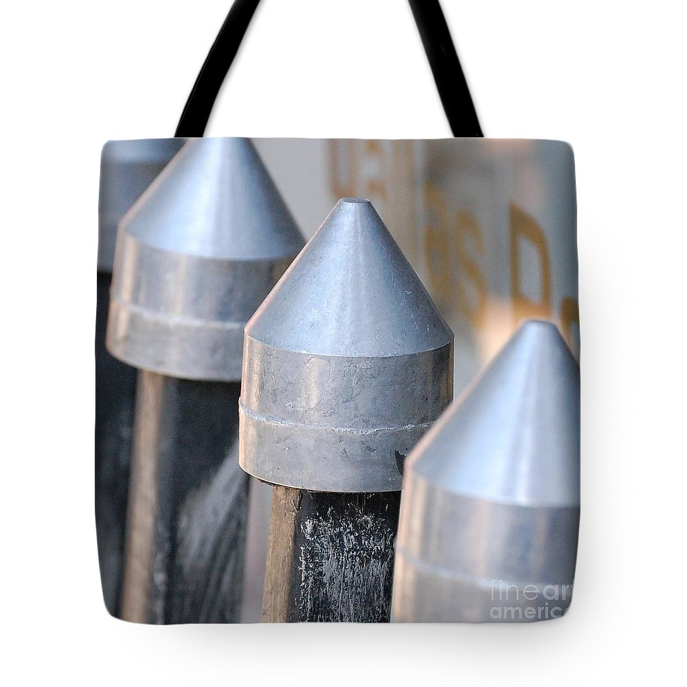 Gate Tote Bag featuring the photograph Silver Bullets by Debbi Granruth