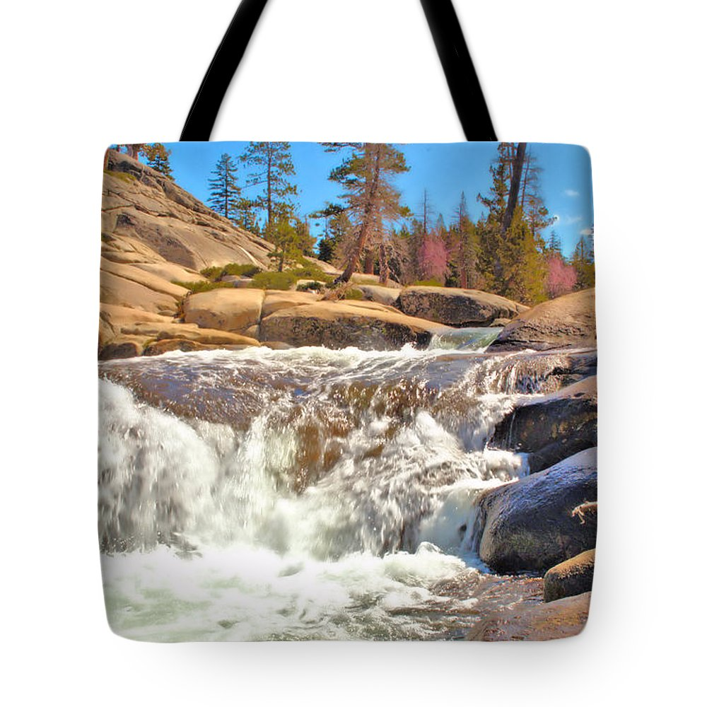 Silver Creek Tote Bag featuring the photograph Silver Creek Rapid by Josephine Buschman