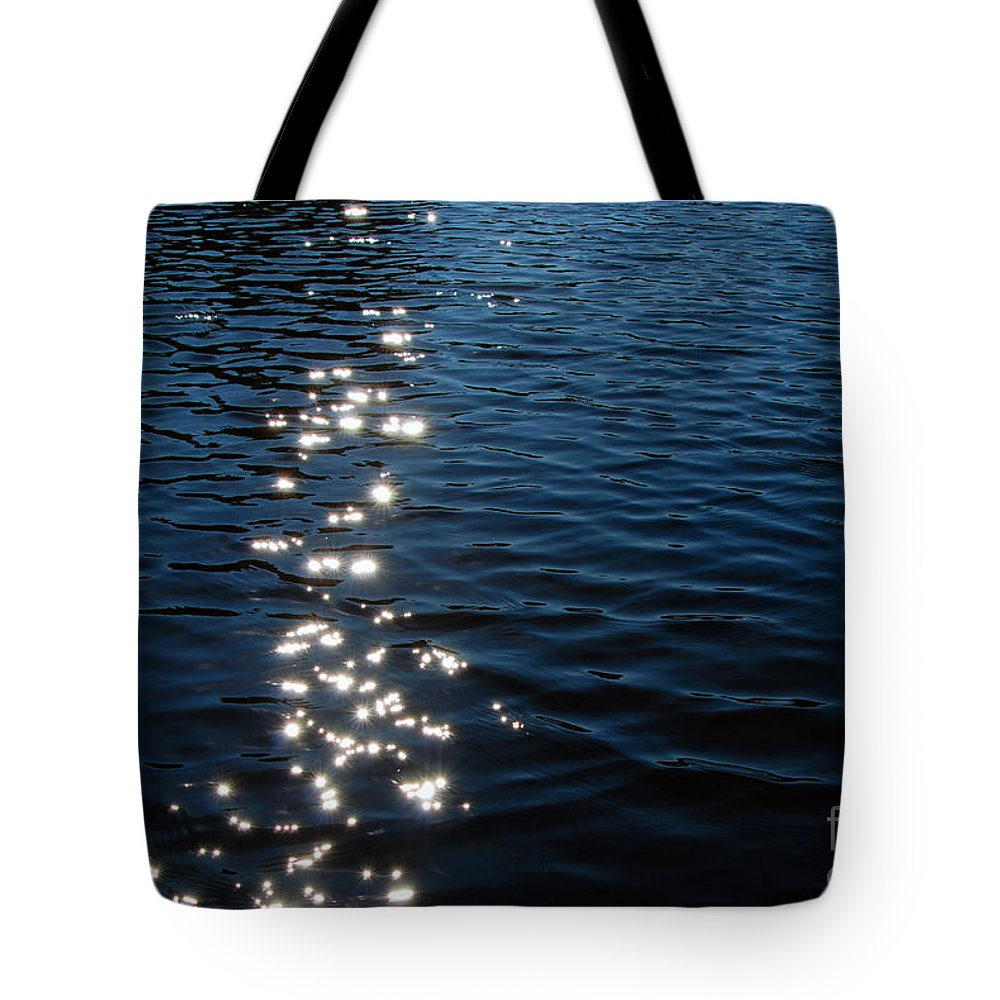 Abstract Tote Bag featuring the photograph Silver Lake by Carl Ellis