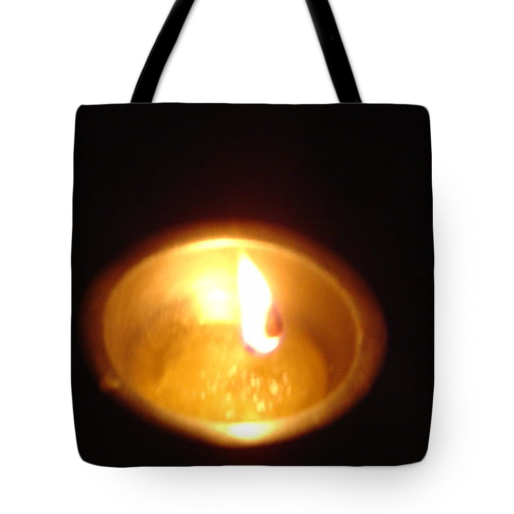 Indian Tote Bag featuring the photograph Silver Lamp by Usha Shantharam