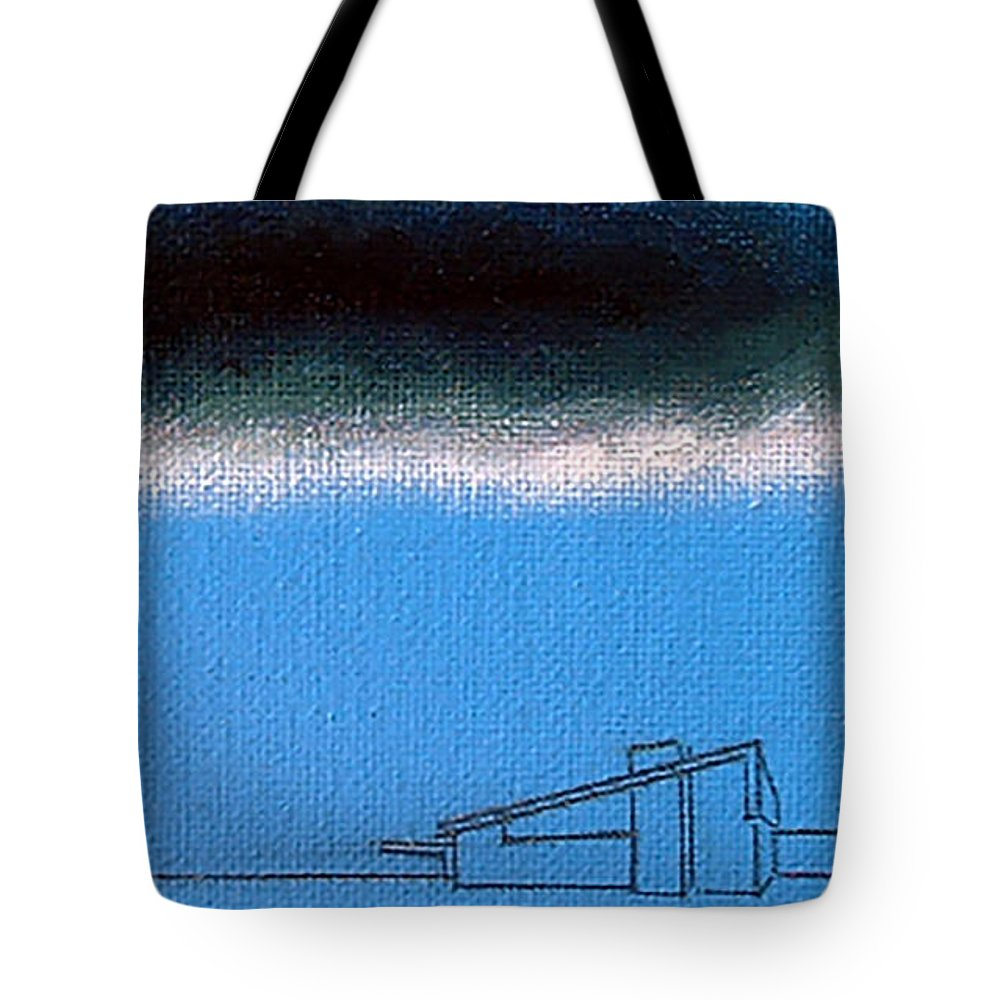 palm Springs Tote Bag featuring the painting Silver Lining Alexander by Stan Magnan
