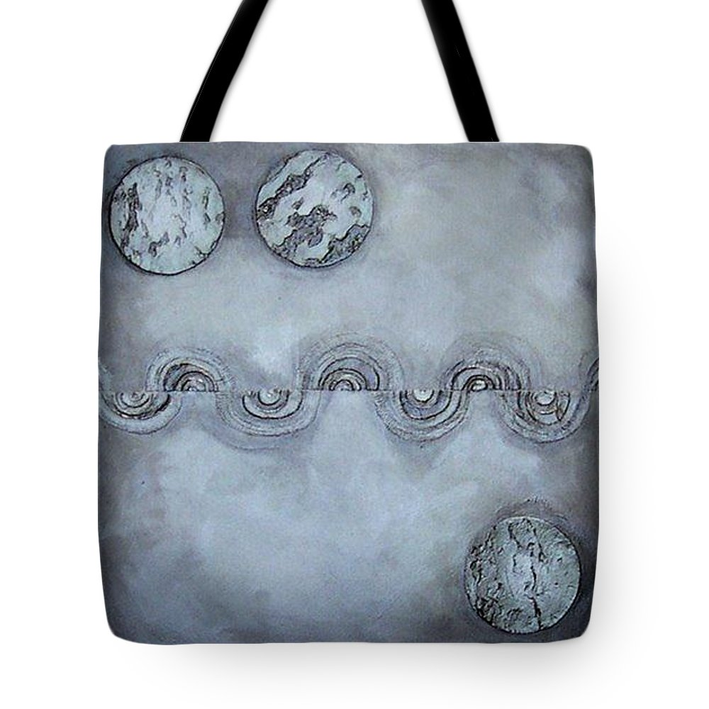 Sets Tote Bag featuring the painting Silver Lining by Marlene Burns