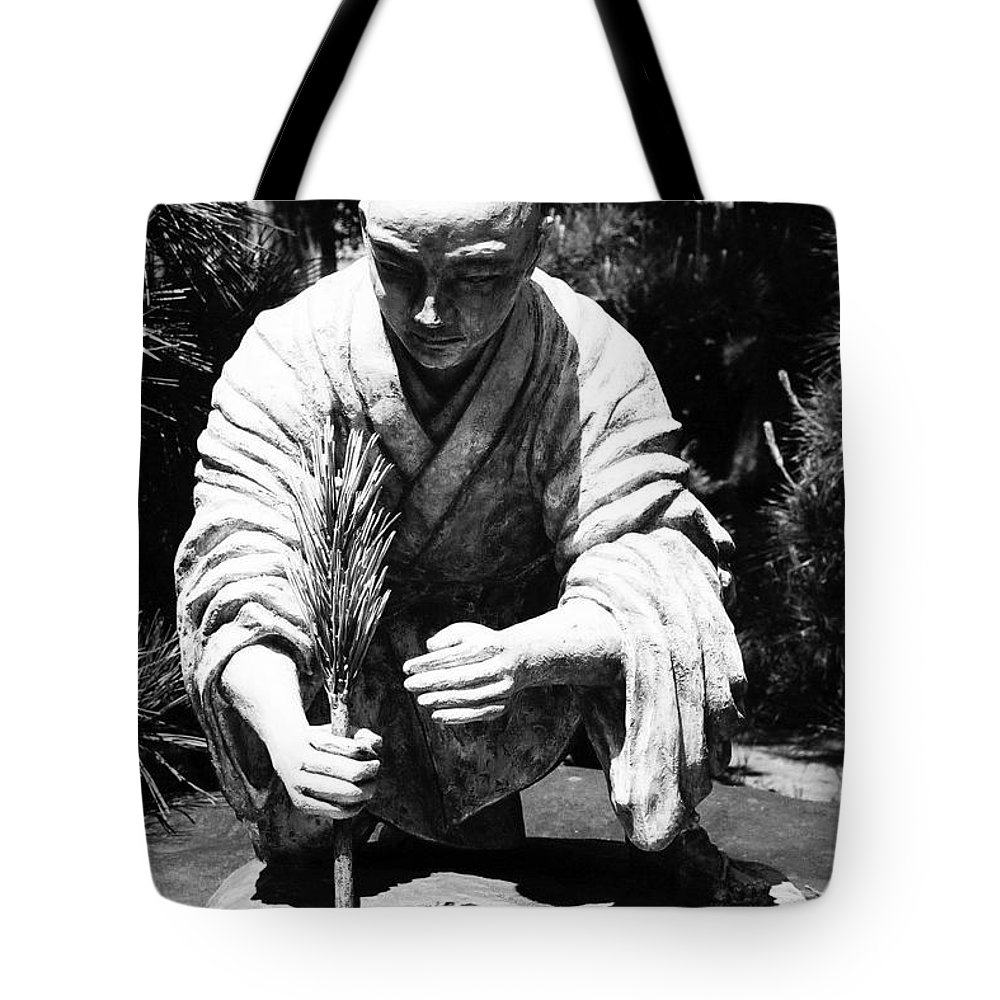 Asia Tote Bag featuring the photograph Silver-monk by Juergen Weiss