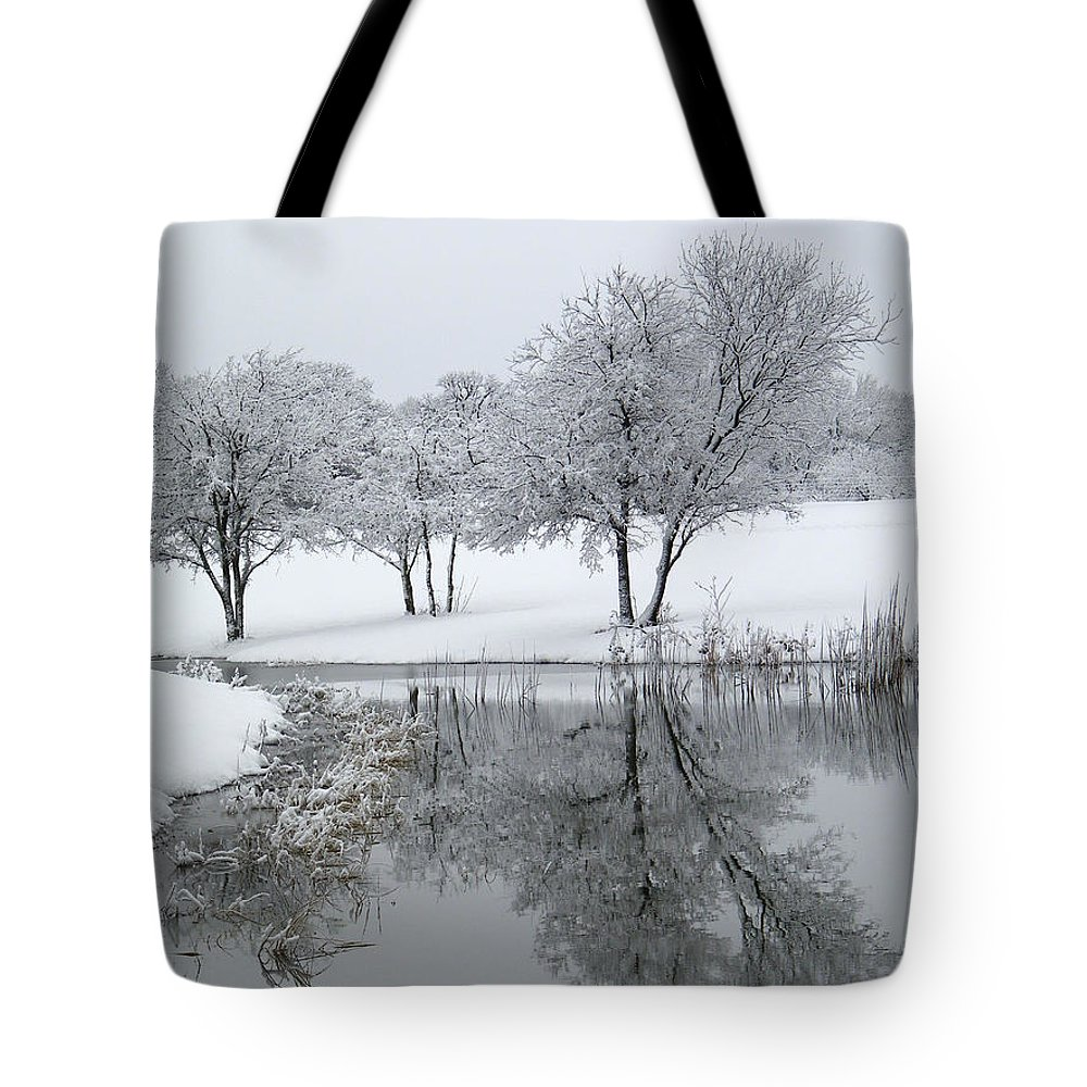 Pond Tote Bag featuring the photograph Silver Morn by Gale Cochran-Smith