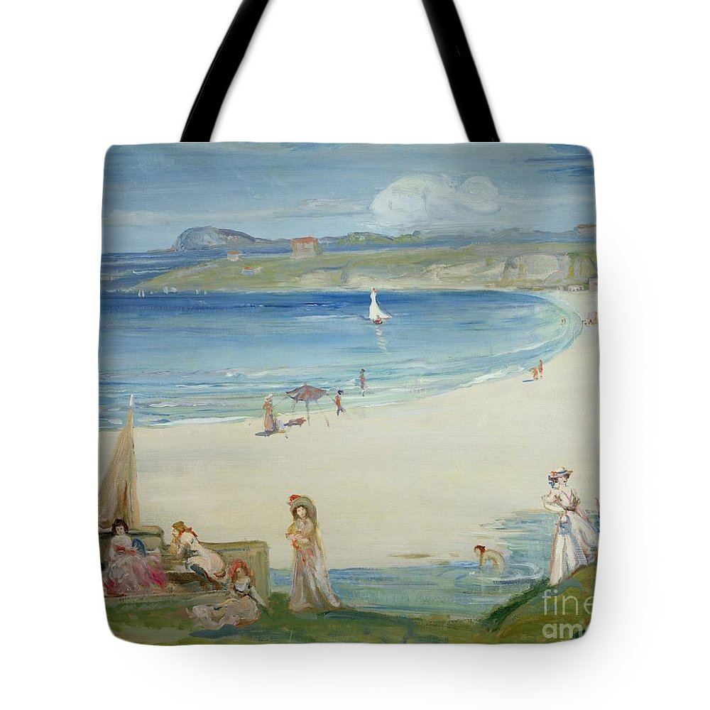 Silver Tote Bag featuring the painting Silver Sands by Charles Edward Conder