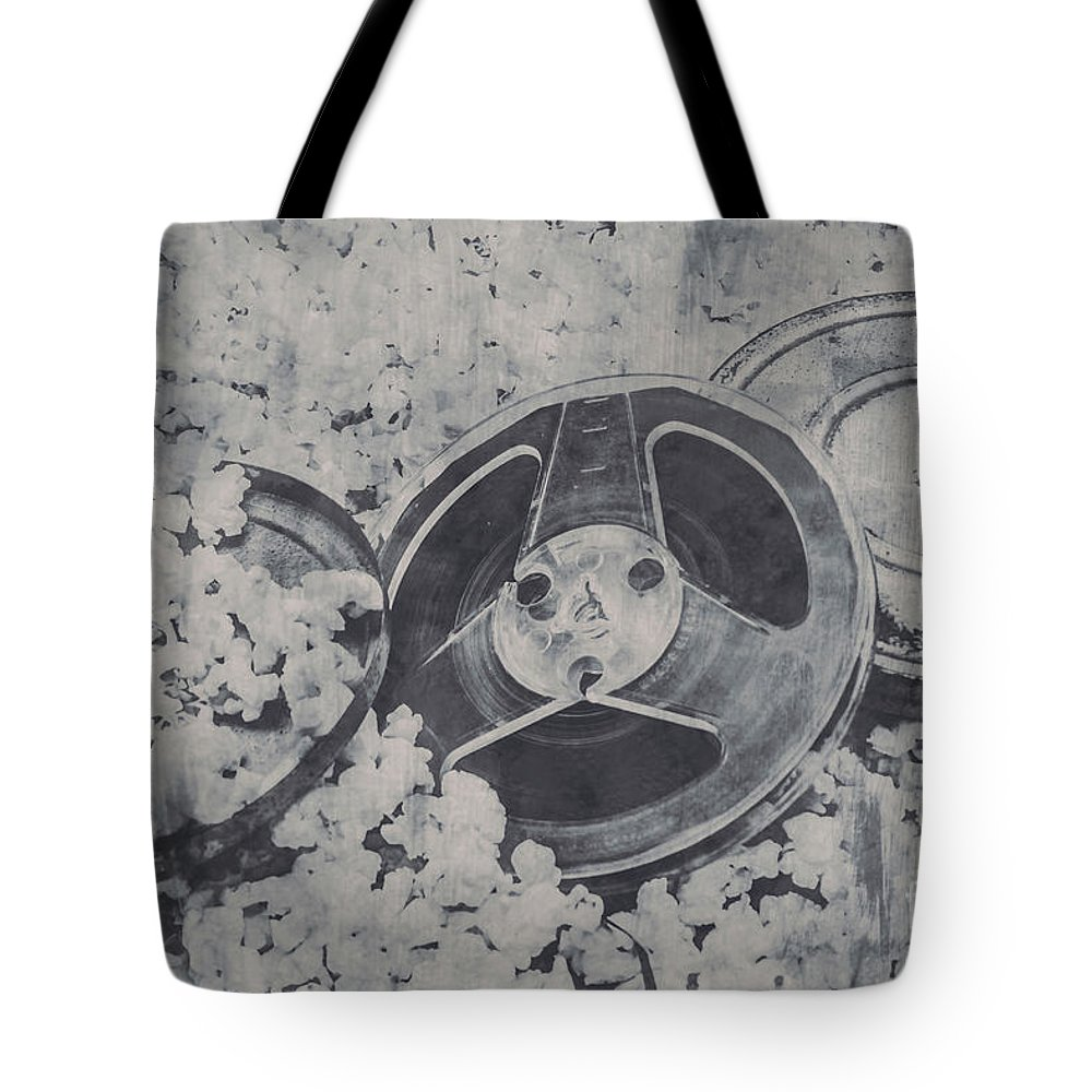 Noir Tote Bag featuring the photograph Silver Screen Film Noir by Jorgo Photography - Wall Art Gallery