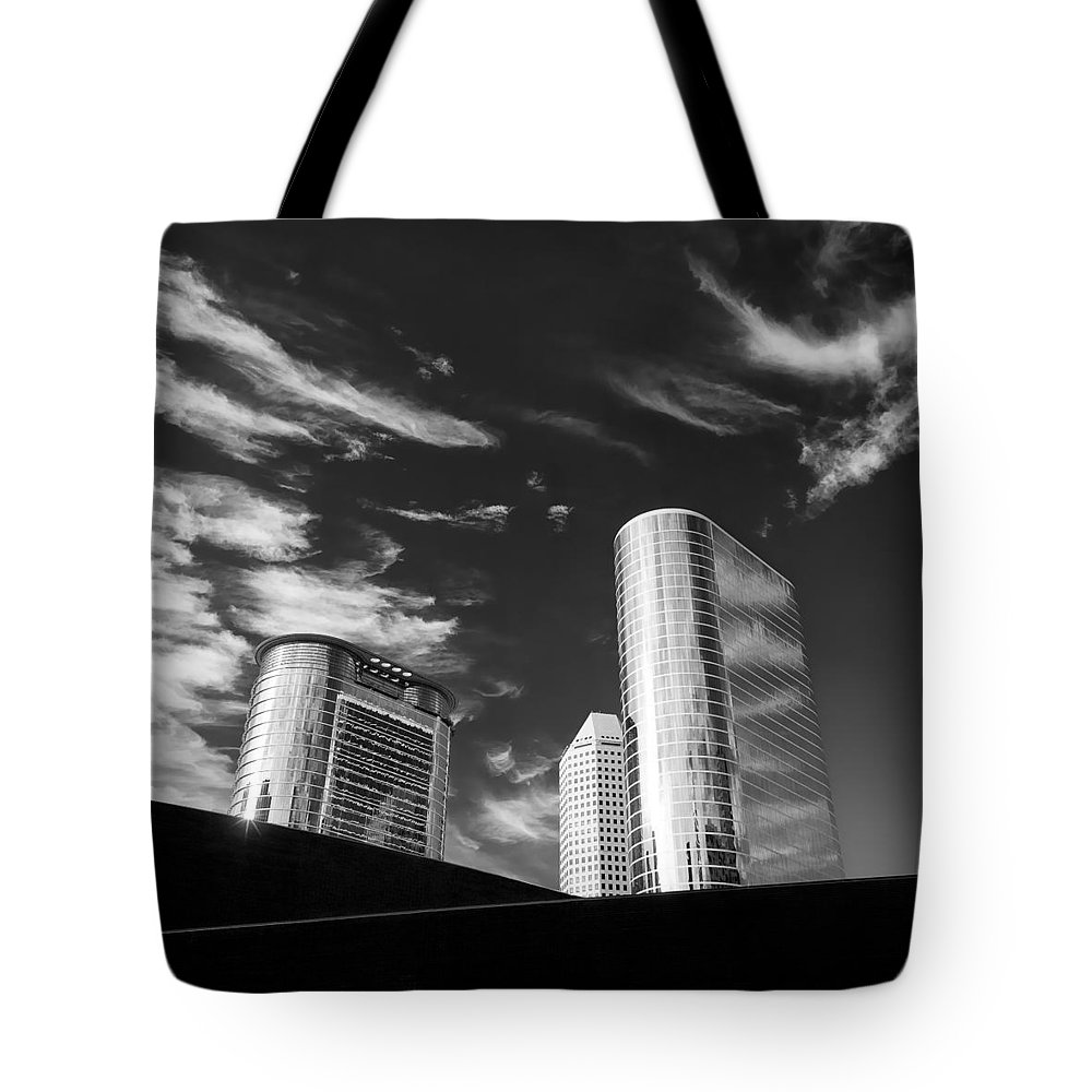 Houston Tote Bag featuring the photograph Silver Towers by Dave Bowman