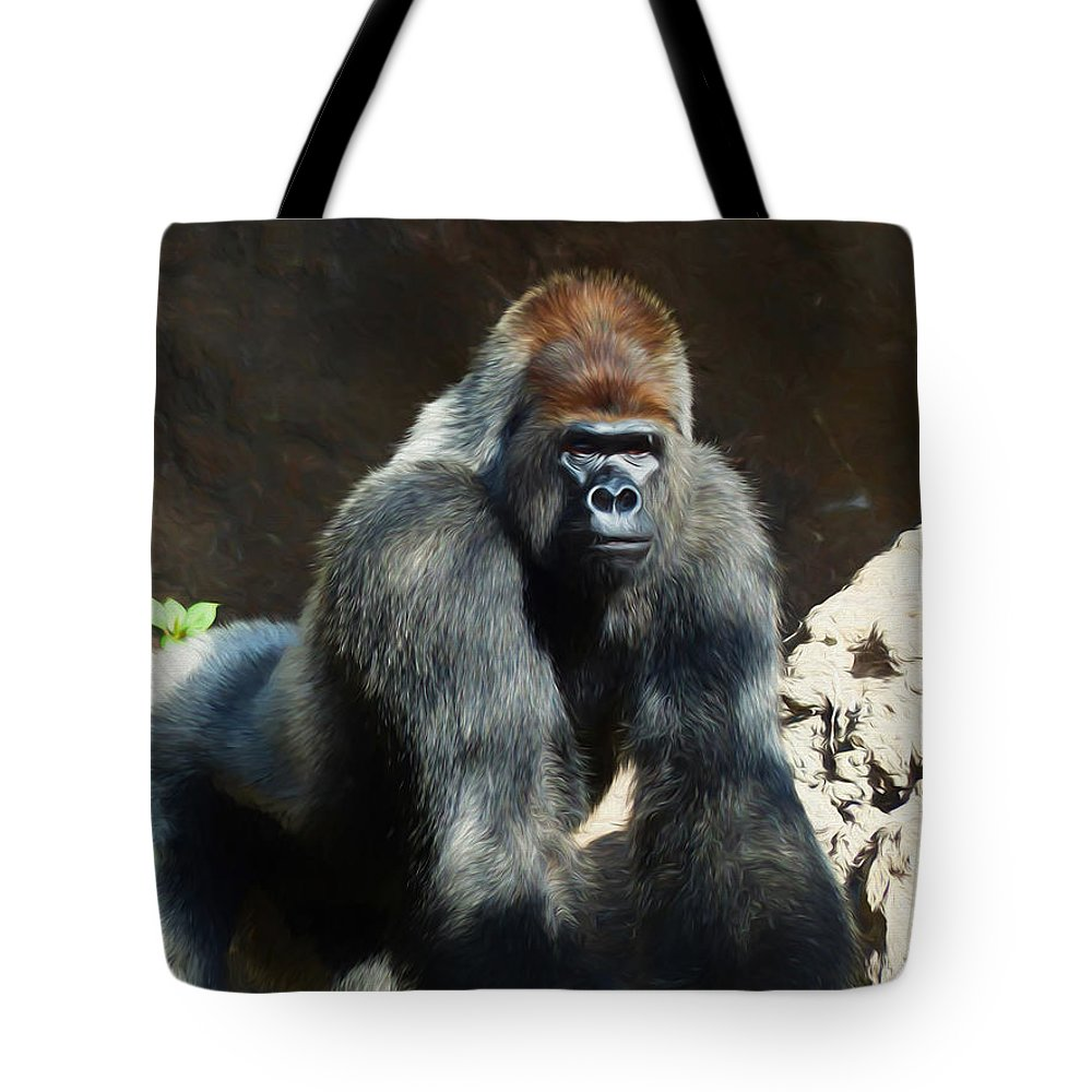 a0bdacc2da0b Silverback Gorilla - Painting Tote Bag for Sale by Ericamaxine Price