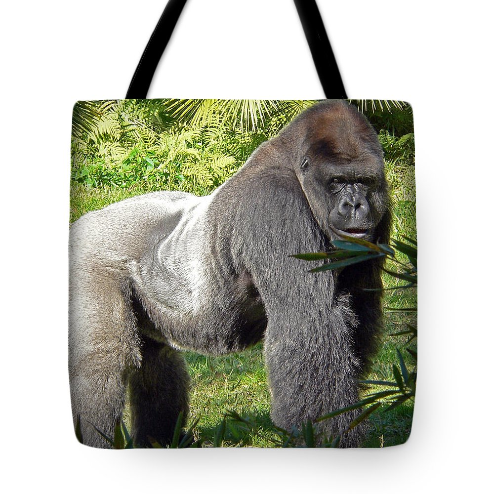 Silverback Tote Bag featuring the photograph Silverback by Steven Sparks