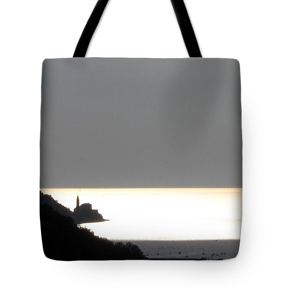 Sunset Tote Bag featuring the photograph Silvery by Dragica Micki Fortuna