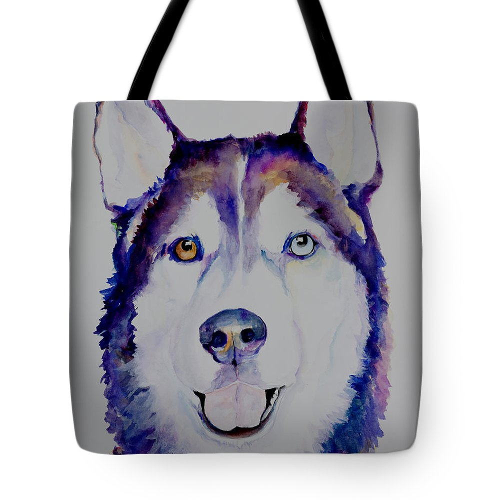 Siberian Husky Tote Bag featuring the painting Simba by Pat Saunders-White