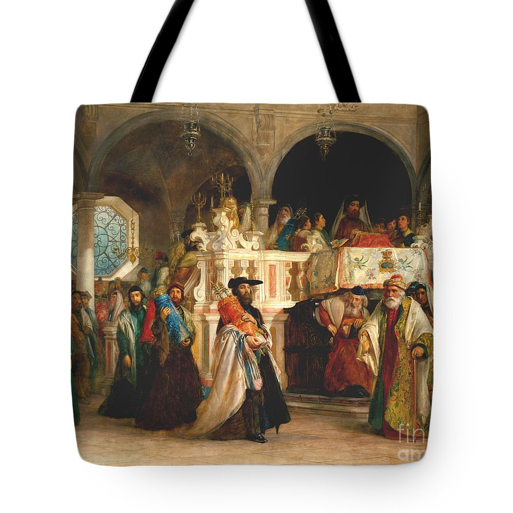 Simchat Torah Livorno 1850 Tote Bag For Sale By Solomon Alexander Hart