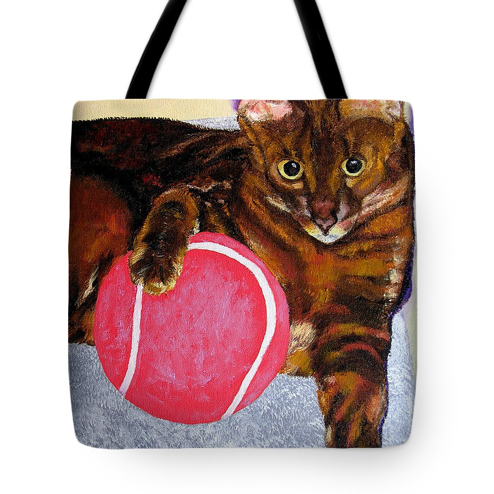 Cat Tote Bag featuring the painting Simon by Stan Hamilton