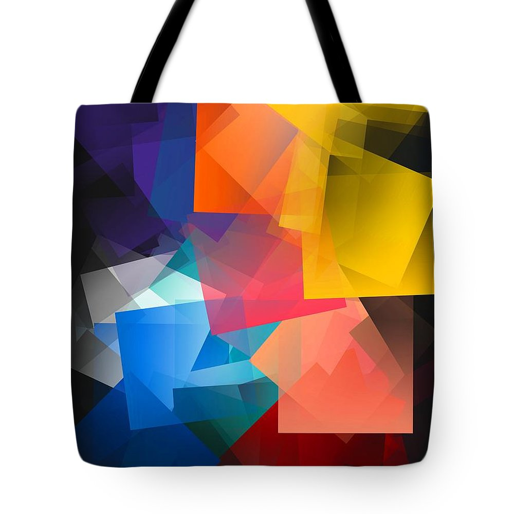 Simple Cubism Abstract 116 Tote Bag