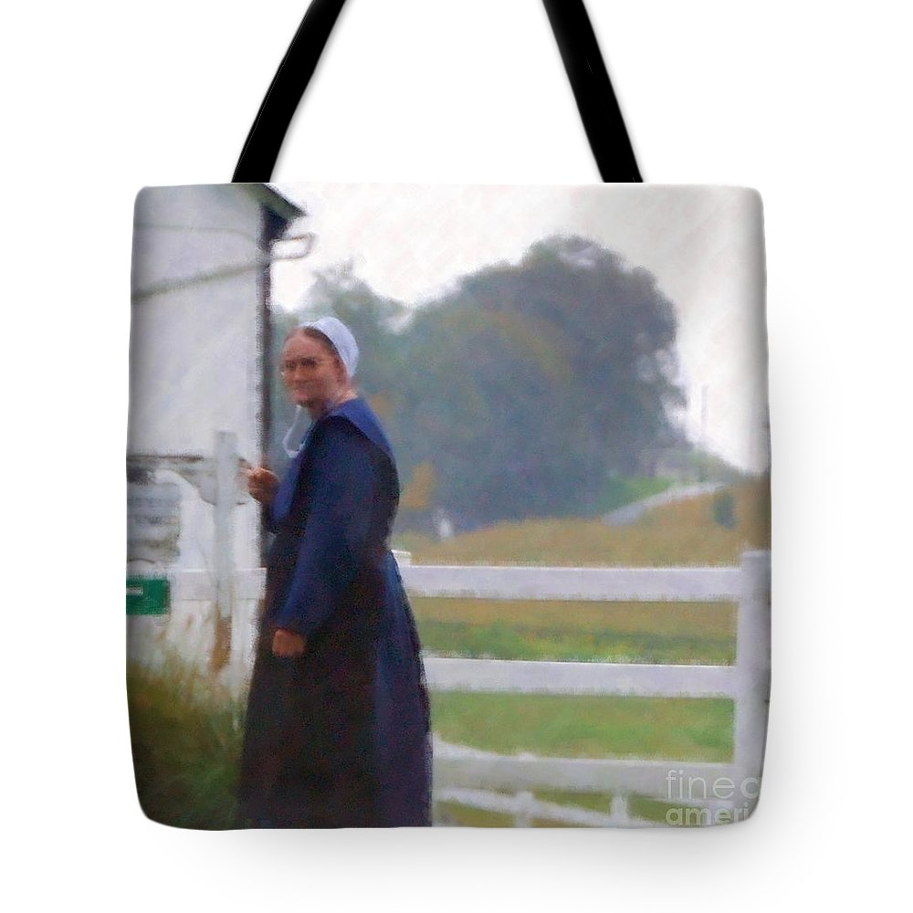 Amish Tote Bag featuring the photograph Simple Living by Debbi Granruth