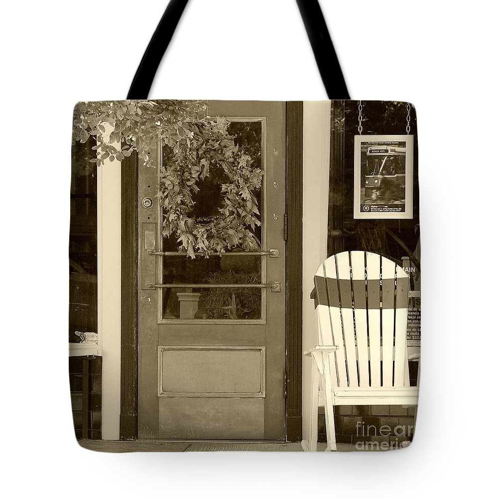 Rocking Chair Tote Bag featuring the photograph Simple Times by Debbi Granruth