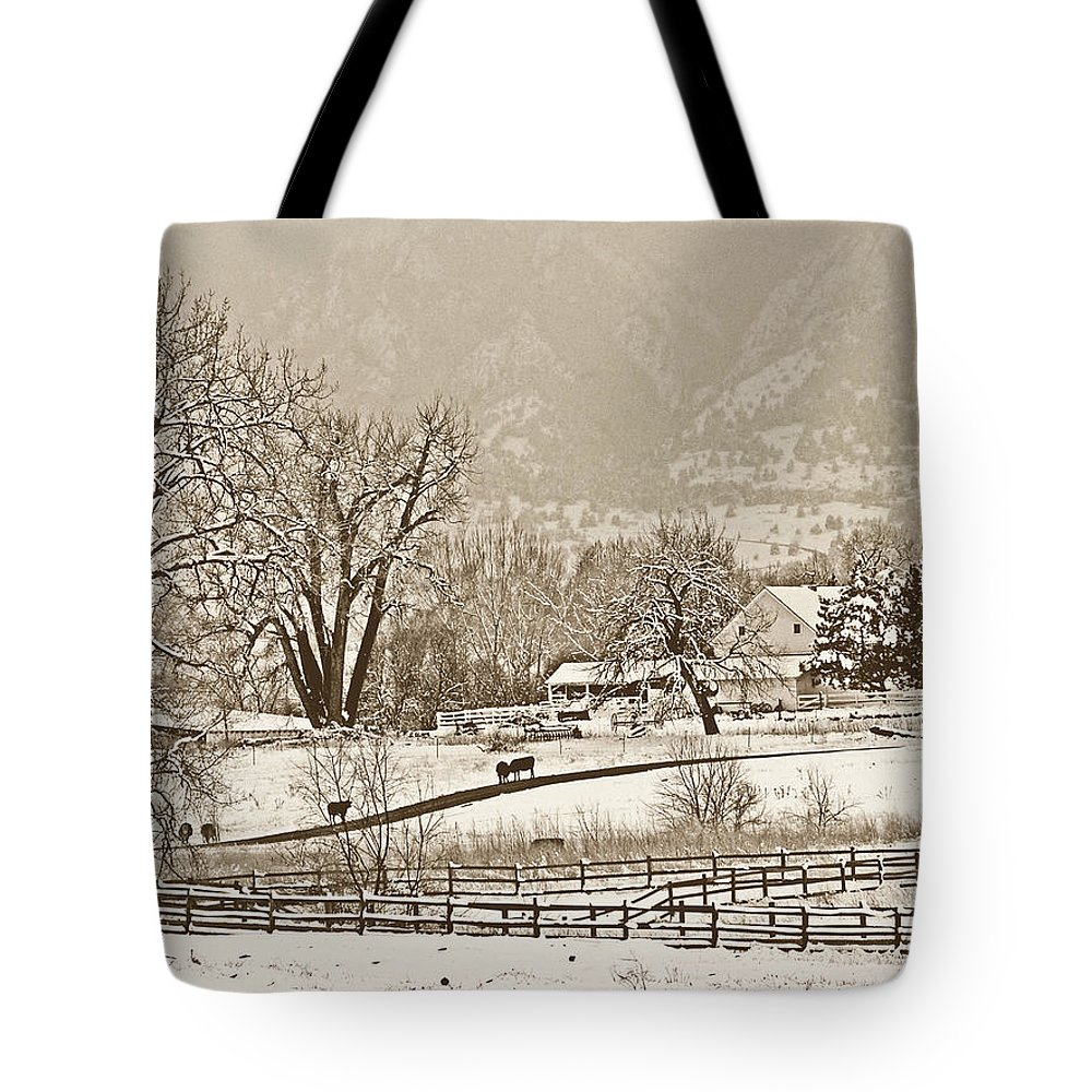 Landscape Tote Bag featuring the photograph Simpler Times by Marilyn Hunt