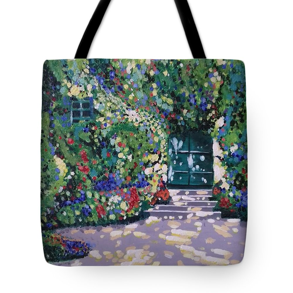 Landscape Tote Bag featuring the painting Simplicity by Feras Staif