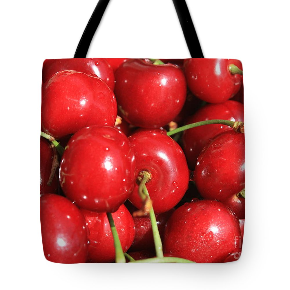 Cherries Tote Bag featuring the photograph Simply Cherries by Carol Groenen