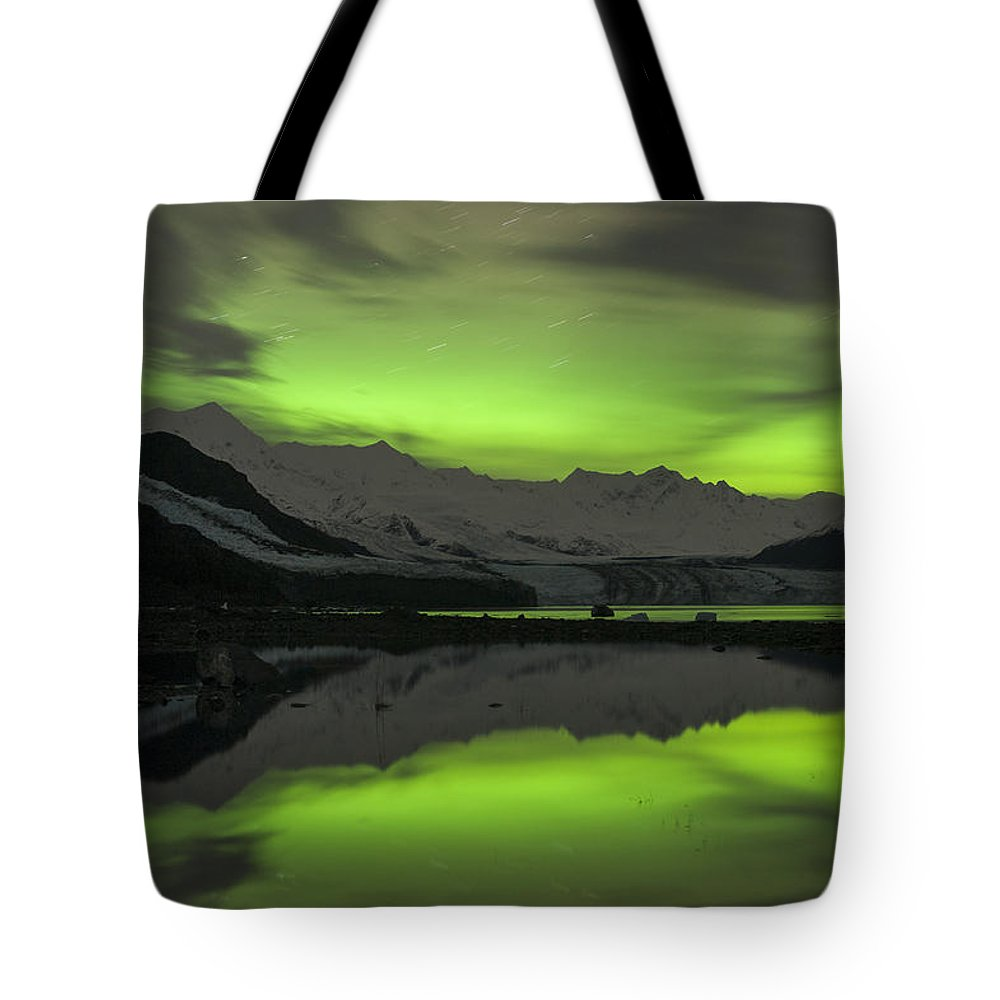 Aurora Tote Bag featuring the photograph Simply Glowing by Ted Raynor
