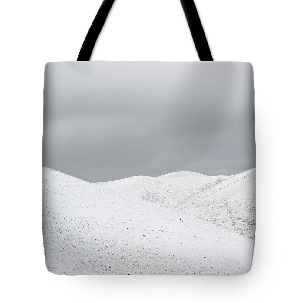 Snow Tote Bag featuring the photograph Simply Snow by Karen W Meyer