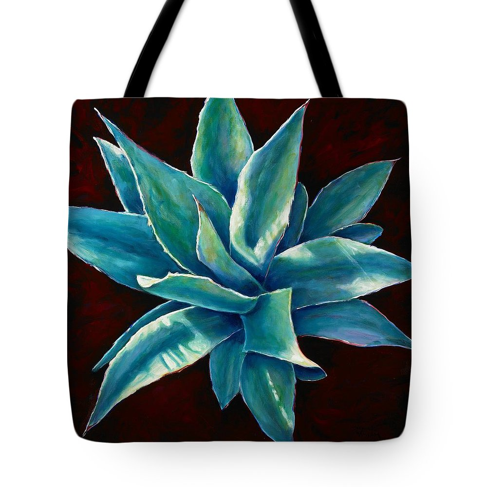 Agave Tote Bag featuring the painting Simply Succulent by Shannon Grissom