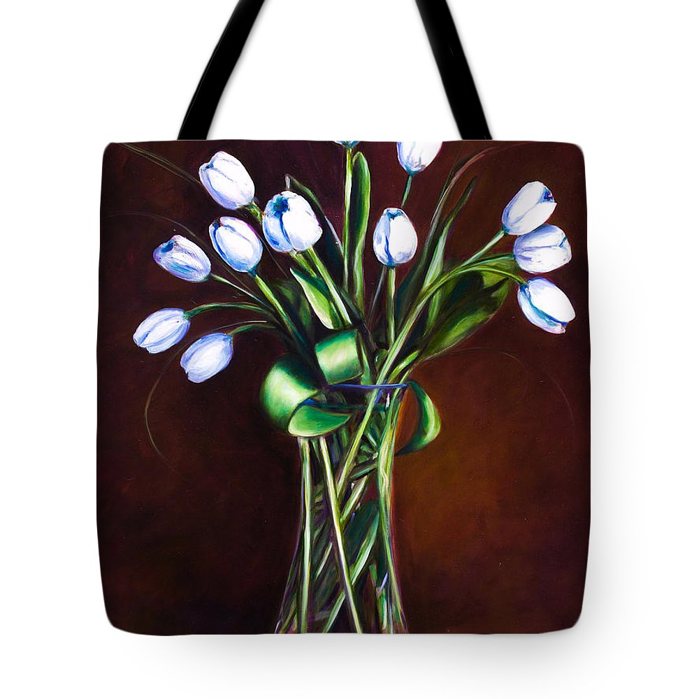 Shannon Grissom Tote Bag featuring the painting Simply Tulips by Shannon Grissom