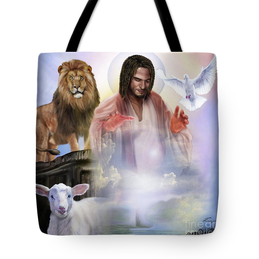 Loin Tote Bag featuring the painting Since Before Abraham I Am by Reggie Duffie