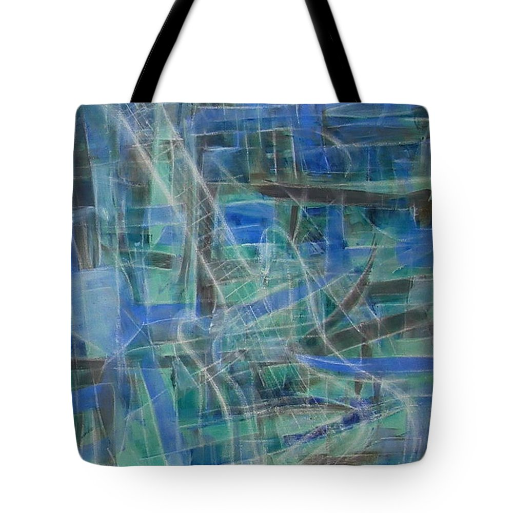 Guitar Tote Bag featuring the painting Singing The Blues by Dawn Hough Sebaugh