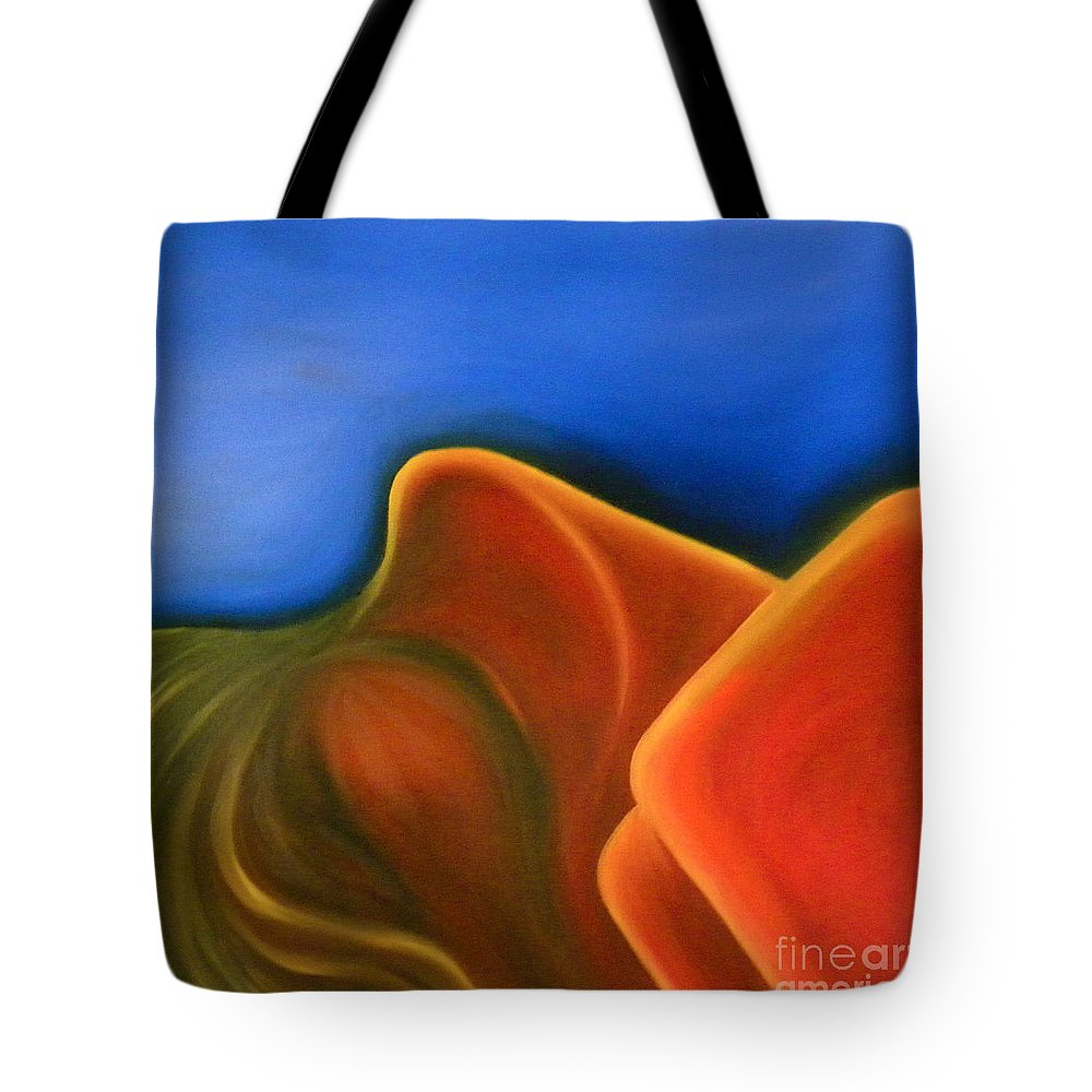 Woman Paintings Tote Bag featuring the painting Sinuous Curves Iv by Fanny Diaz