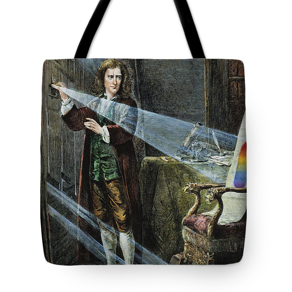 18th Century Tote Bag featuring the photograph Sir Isaac Newton by Granger