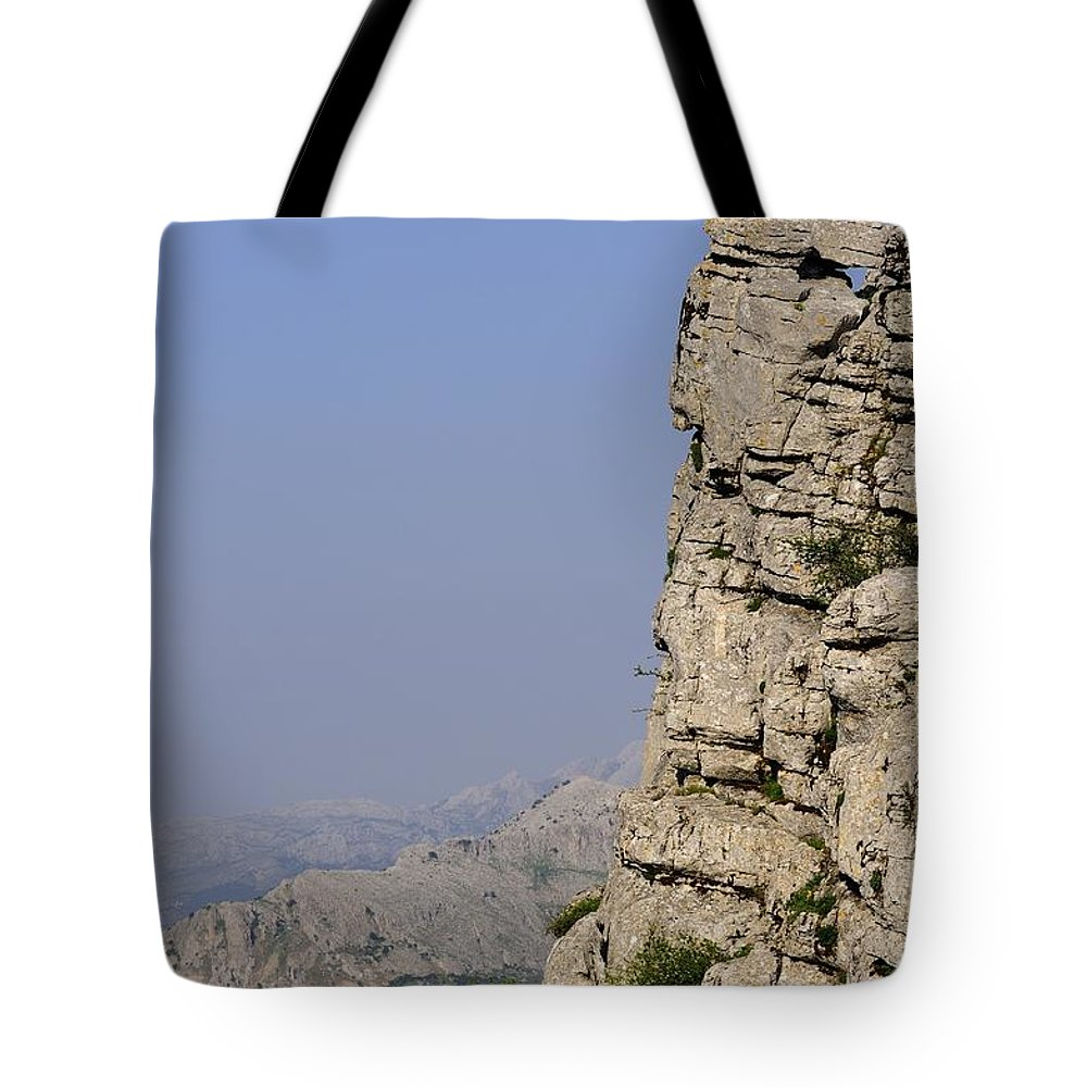 Landscape Tote Bag featuring the photograph Sir Of The Rocks by Javier CERDAN