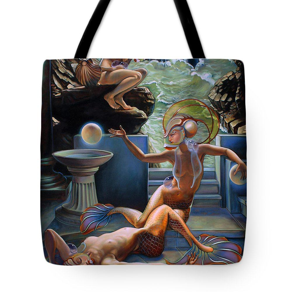 Siren Tote Bag featuring the painting Sirenia Cove by Patrick Anthony Pierson