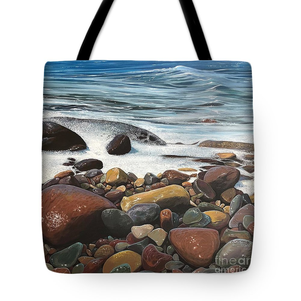 Ocean Tote Bag featuring the painting Siren's Call by Hunter Jay