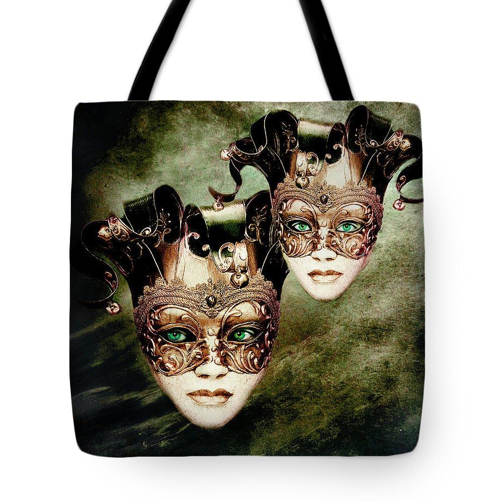 Woman Tote Bag featuring the digital art Sisters by Jacky Gerritsen