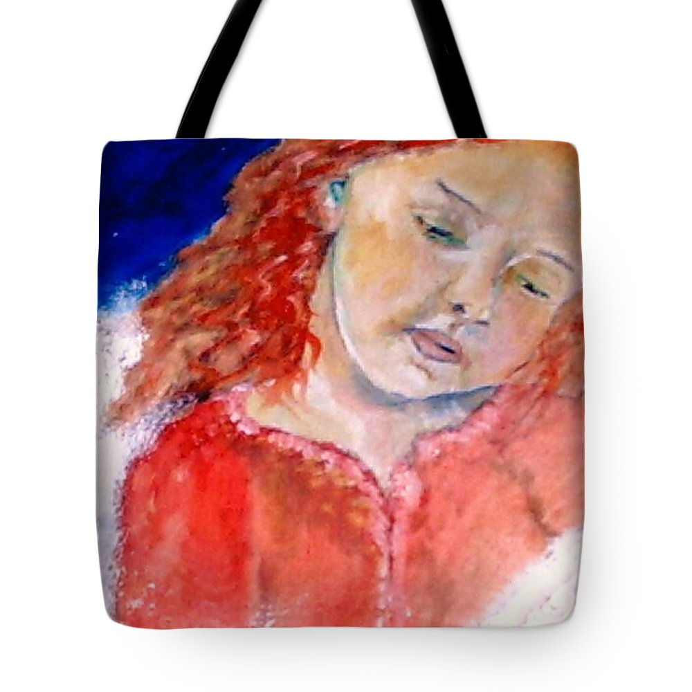 Angels Tote Bag featuring the painting watching the Dreamers by J Bauer