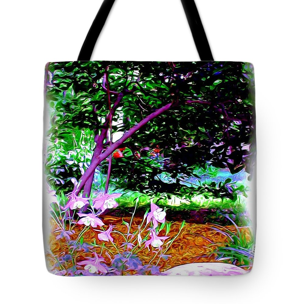 Fine Art Tote Bag featuring the painting Sitting In The Shade by Patricia Griffin Brett