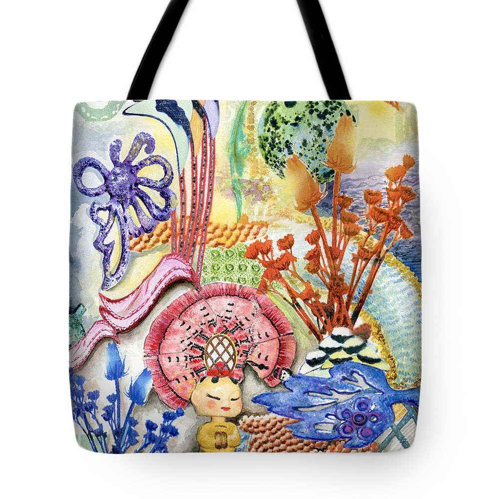 Bright Tote Bag featuring the painting Sitting Pretty by Valerie Meotti