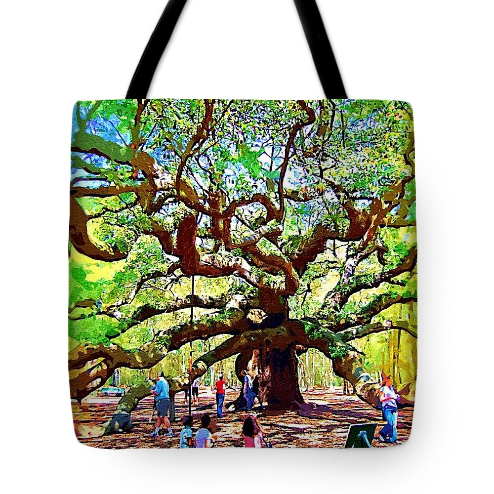 Tote Bag featuring the photograph Sitting Under The Live Oaks by Donna Bentley