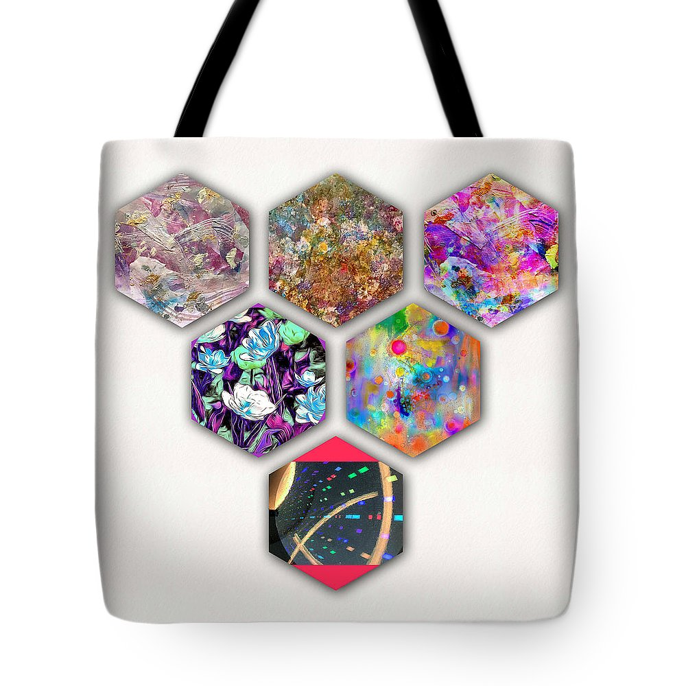 Six Painting Tote Bag featuring the painting Six Paintings by Don Wright
